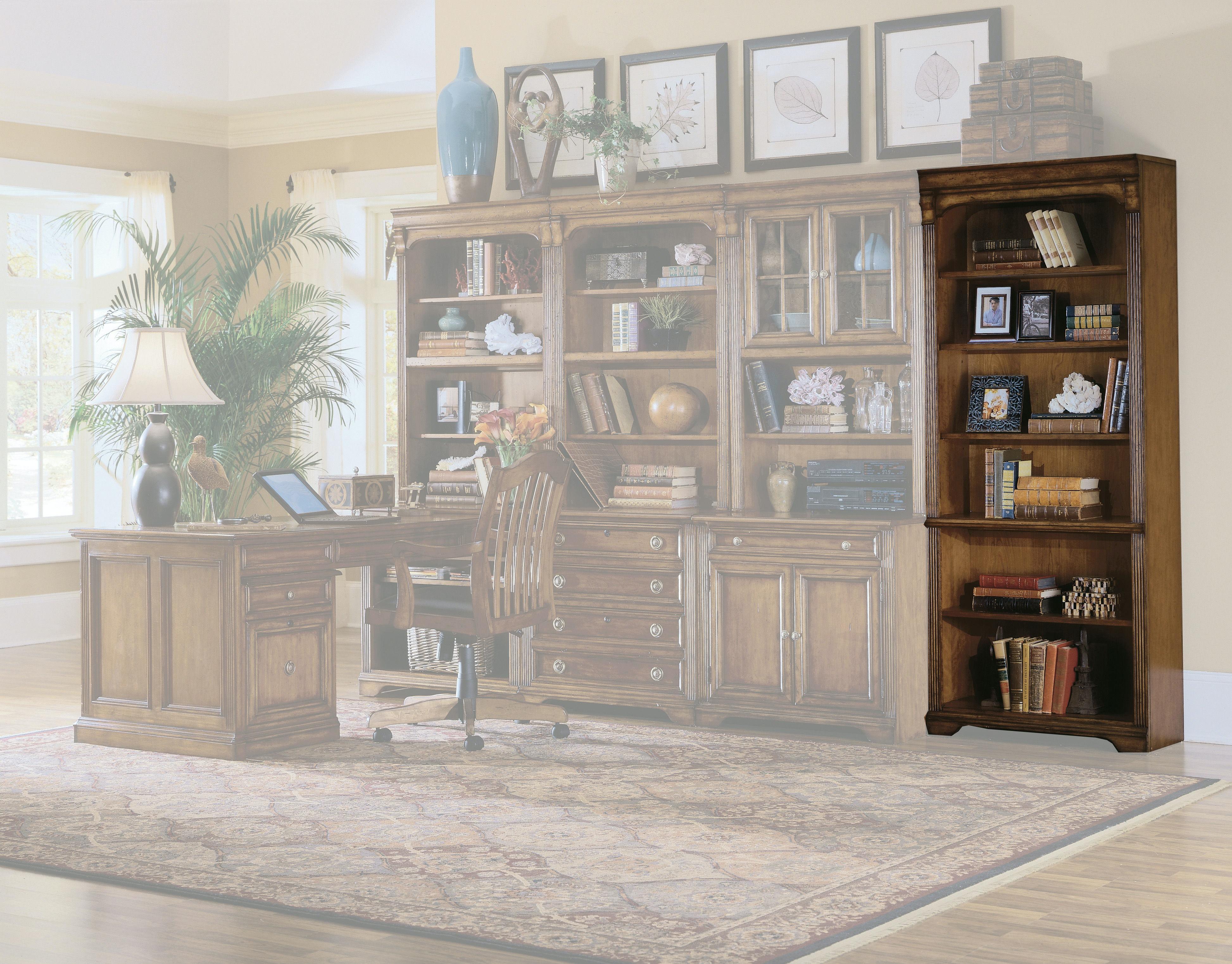 home office bookshelves. Hooker Furniture Brookhaven Tall Bookcase 281-10-422 Home Office Bookshelves