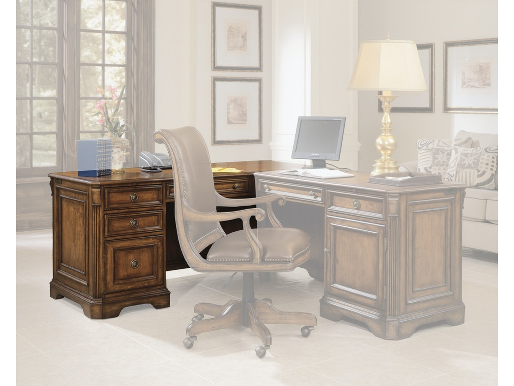 Pleasing Hooker Furniture Home Office Brookhaven Left Pedestal Desk Hs28110468 Walter E Smithe Furniture Design Andrewgaddart Wooden Chair Designs For Living Room Andrewgaddartcom