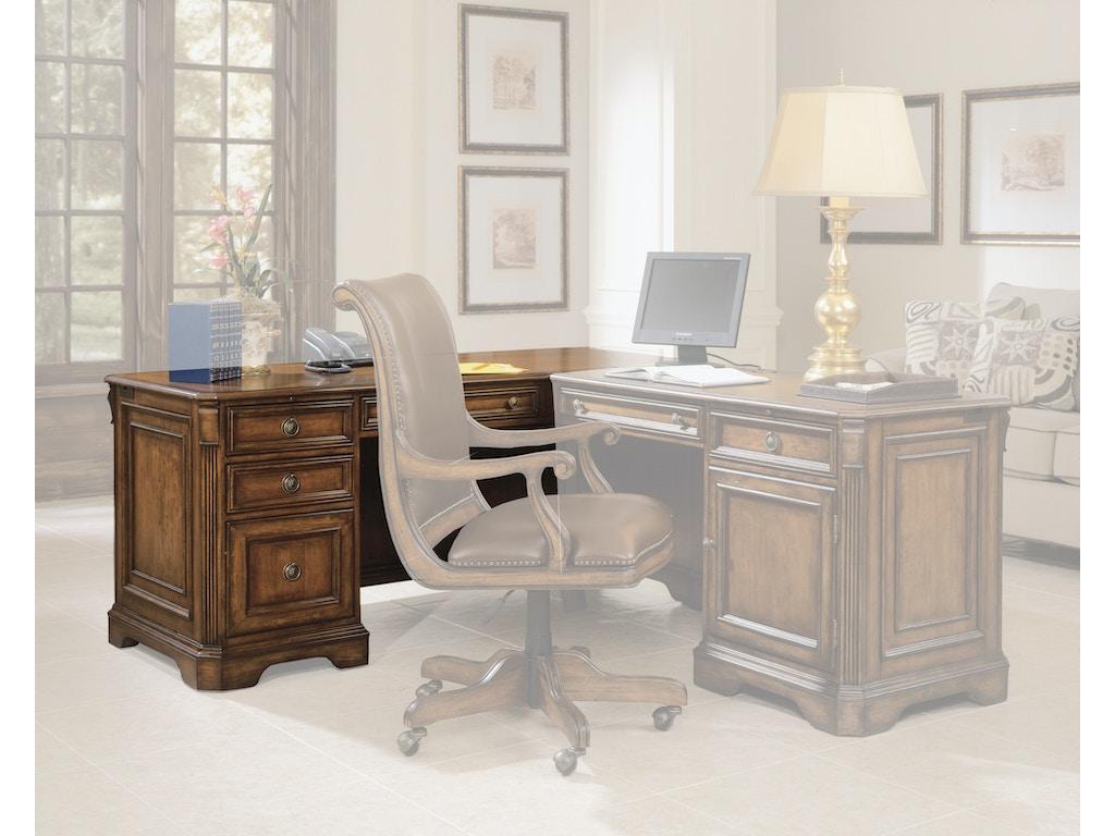 Hooker furniture home office brookhaven left pedestal desk 281 10 468 carol house furniture - Home office furniture maryland ...