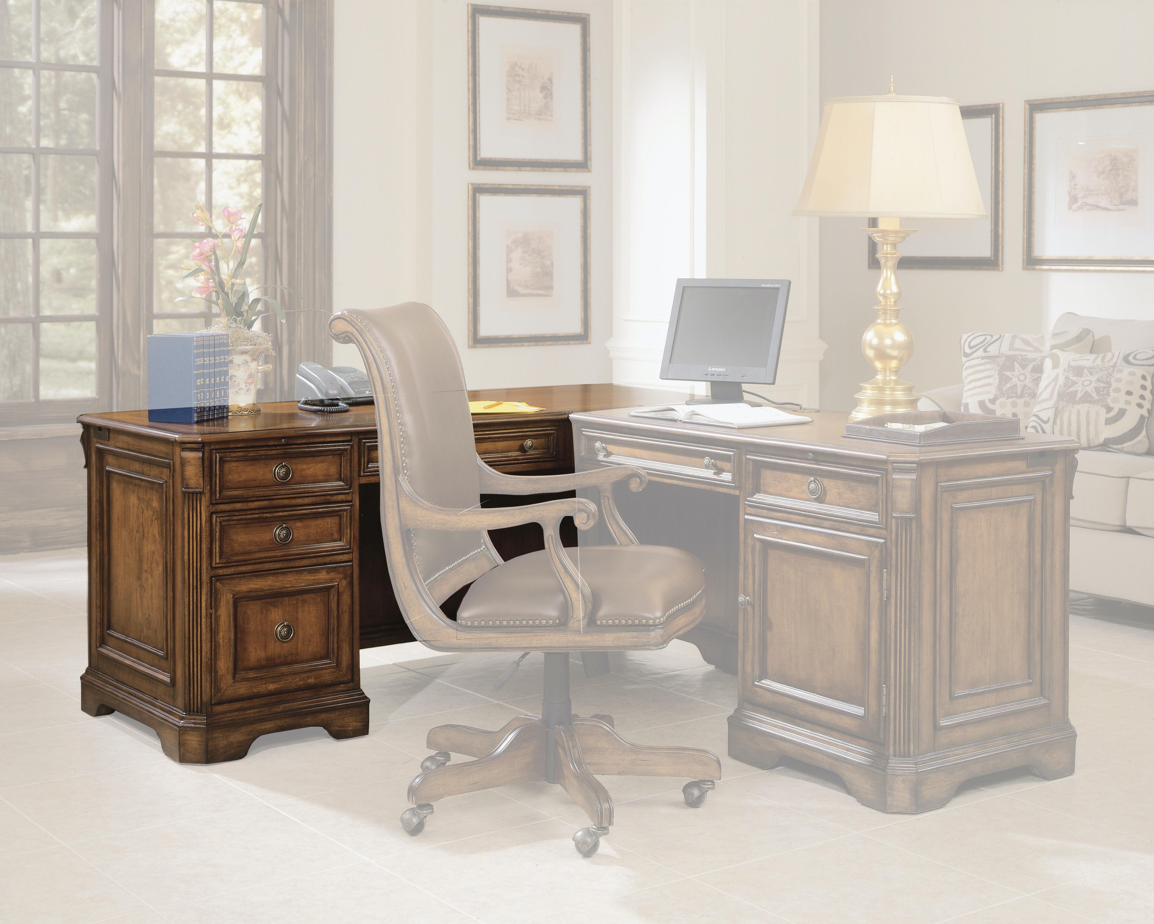 Hooker Furniture Brookhaven Left Pedestal Desk 281 10 468