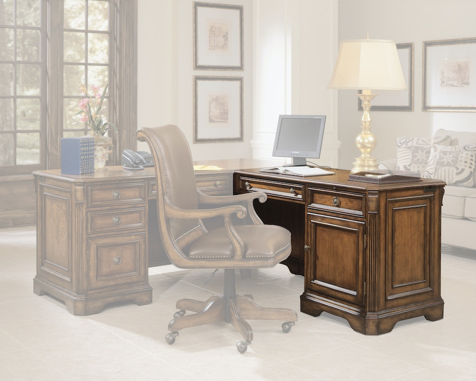 Excellent Hooker Furniture Home Office Brookhaven Right Pedestal Andrewgaddart Wooden Chair Designs For Living Room Andrewgaddartcom