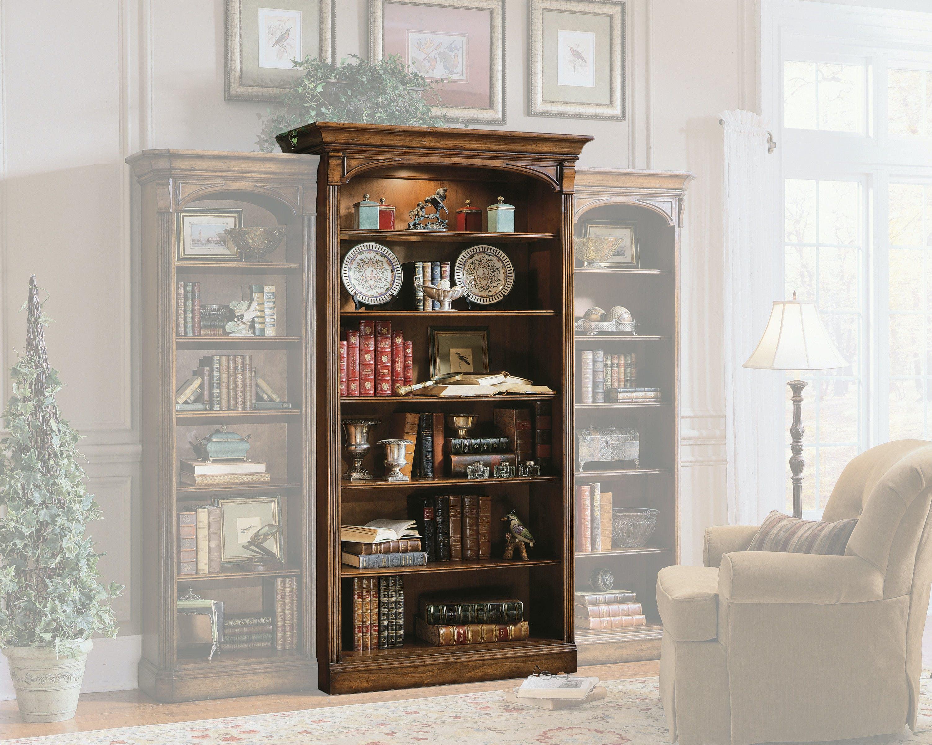 Hooker Furniture Home Office Brookhaven Open Bookcase Hs28110545 Walter E Smithe Furniture Design