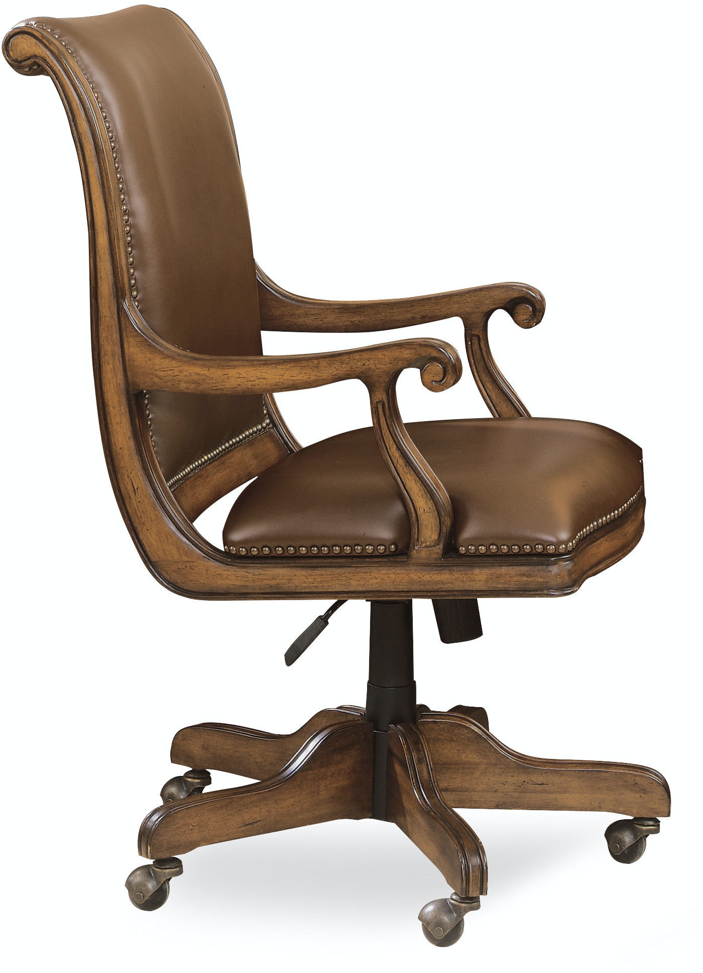Bankers chair leather - Hooker Furniture Brookhaven Desk Chair 281 30 220
