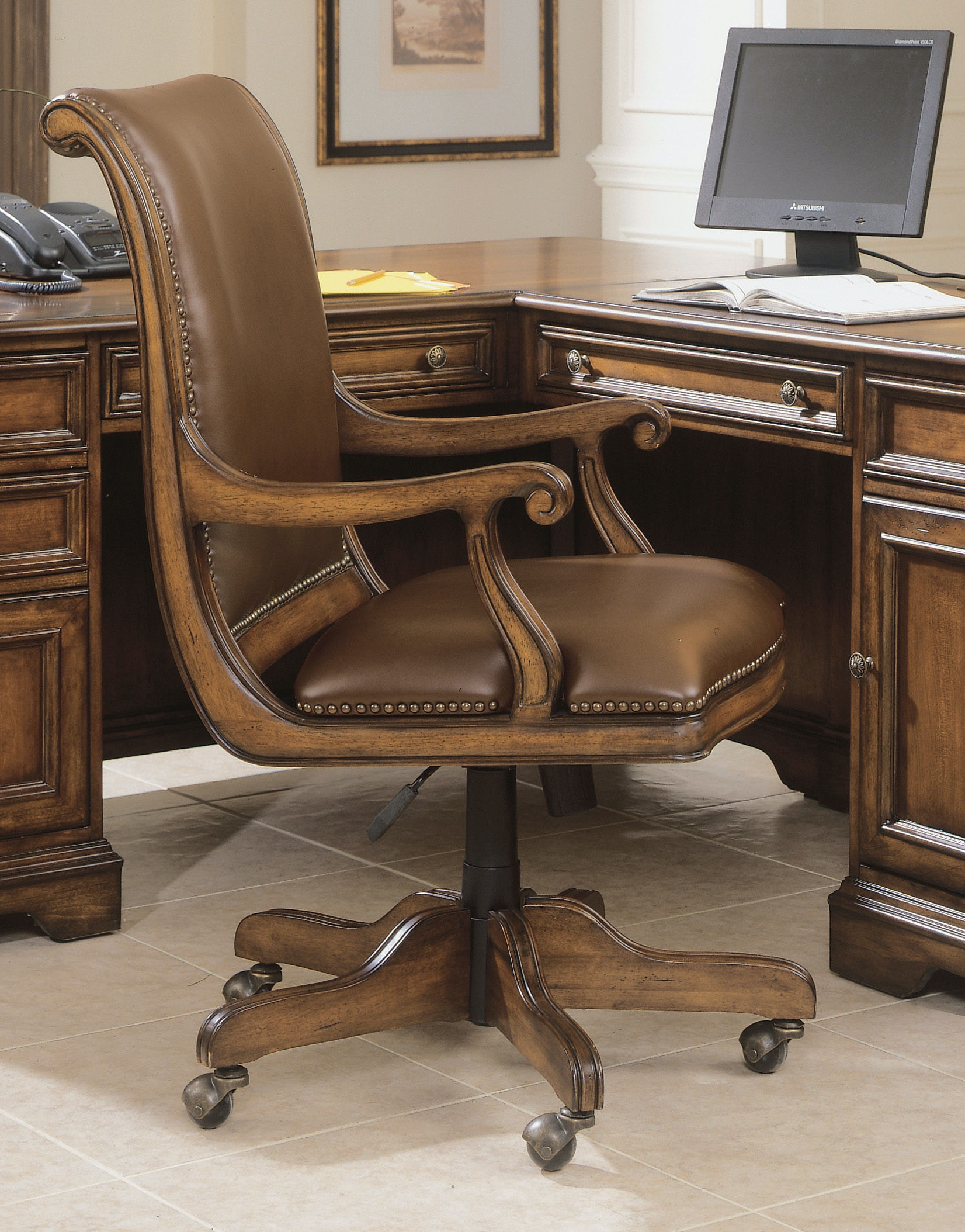 Hooker Furniture Home fice Brookhaven Desk Chair 281 30 220