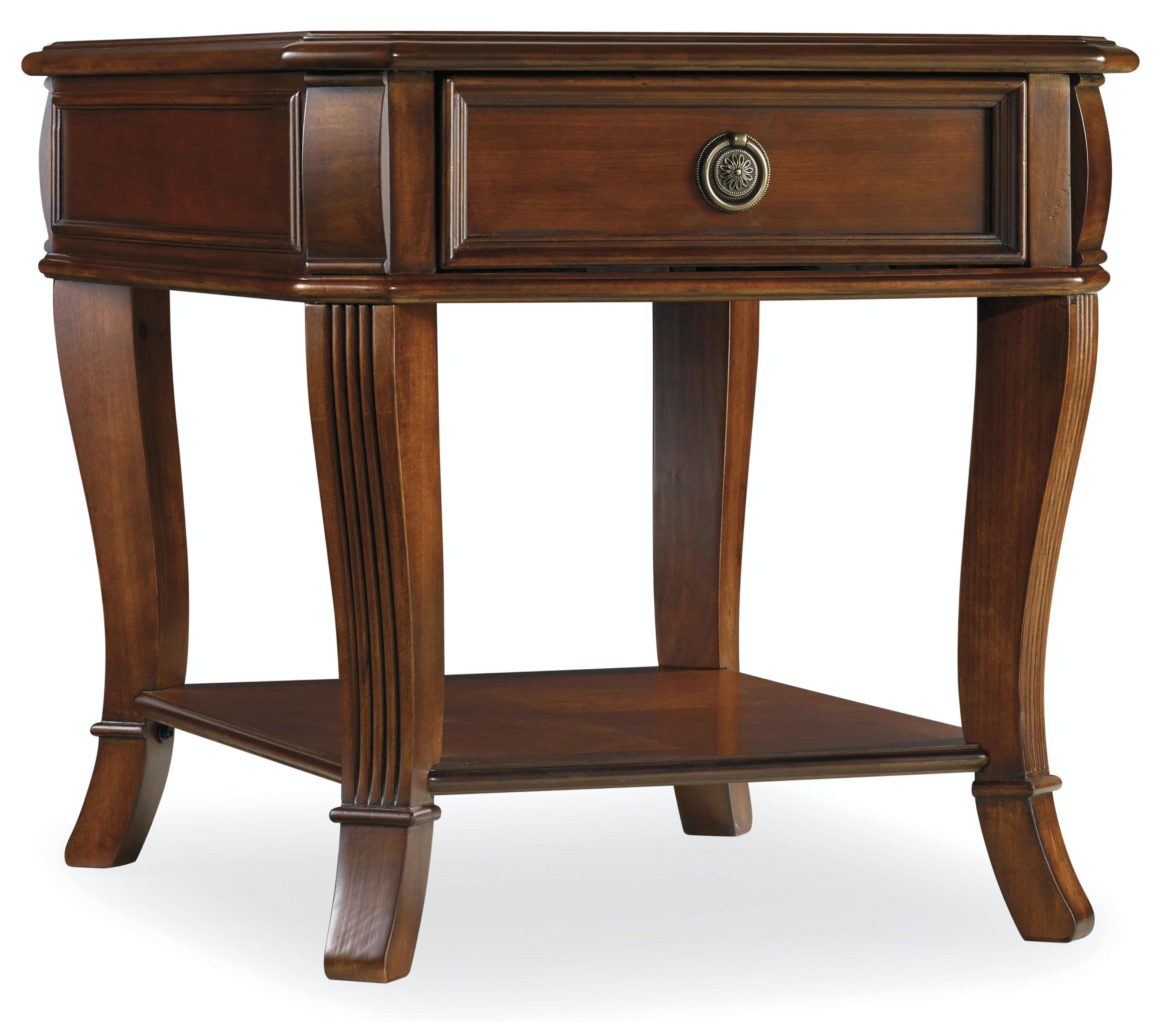 hooker furniture living room brookhaven end table 281-80-113