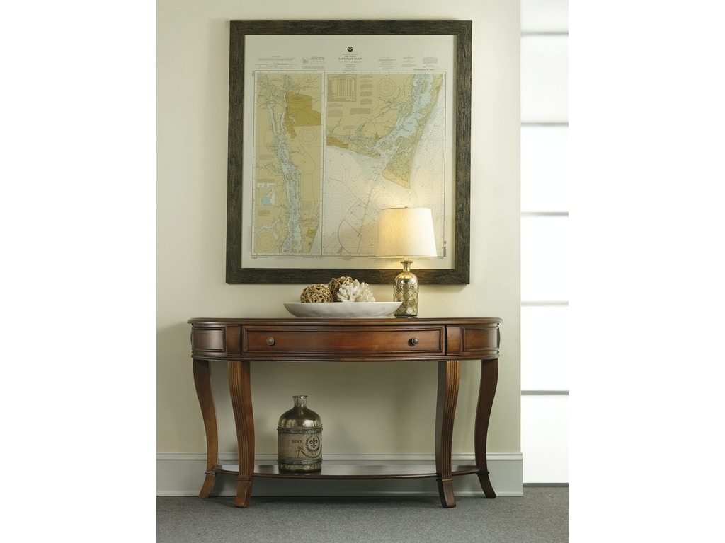 Hooker furniture living room brookhaven console table 281 for 80s furniture