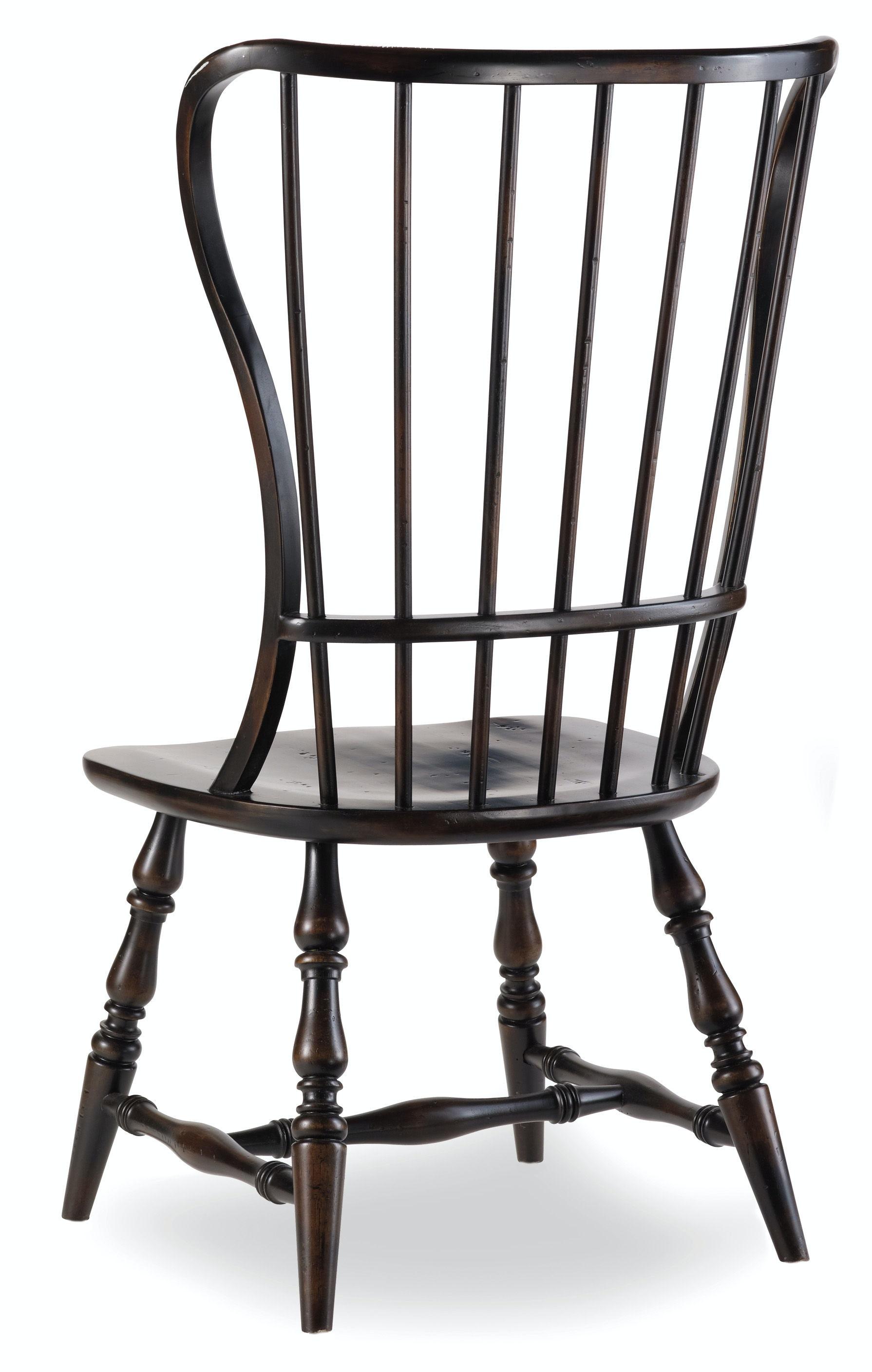 Merveilleux Hooker Furniture Sanctuary Spindle Side Chair Ebony 3005 75310
