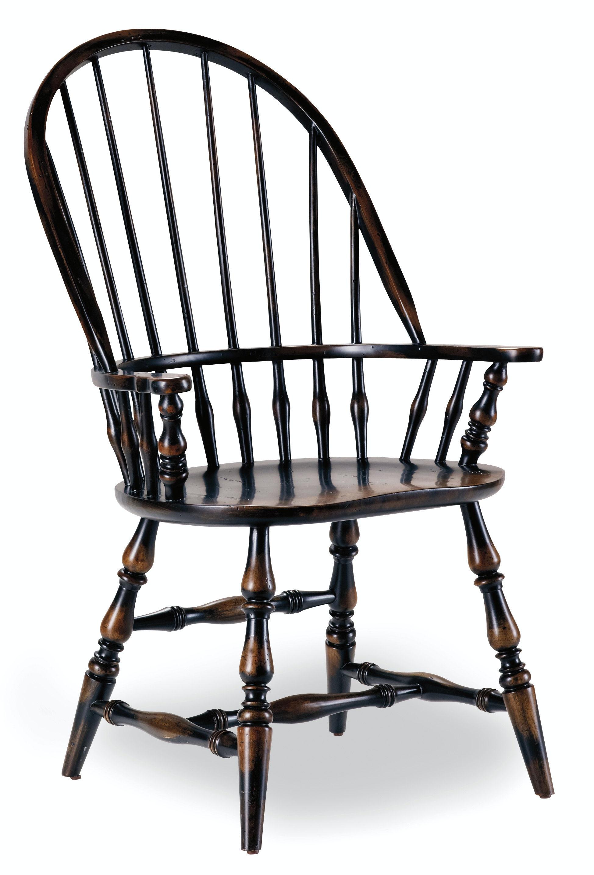 Good Hooker Furniture Sanctuary Windsor Arm Chair Ebony 3005 75320