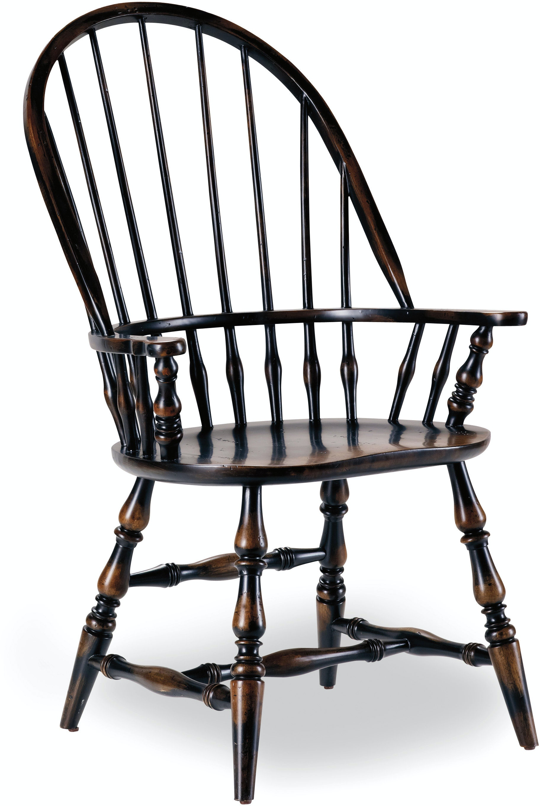 Hooker Furniture Dining Room Sanctuary Windsor Arm Chair Ebony