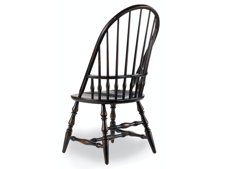 Hooker Furniture Sanctuary Windsor Side Chair-Ebony 3005-75330