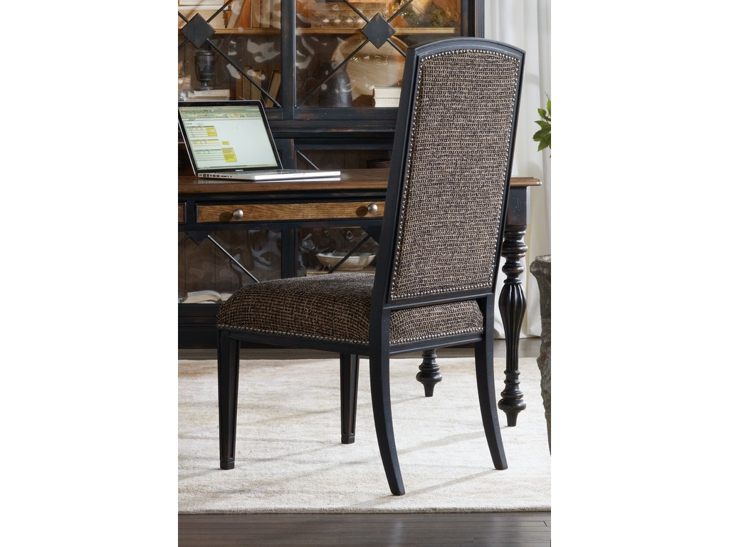 Hooker Furniture Dining Room Sanctuary Mirage Side Chair Ebony 3005 75410 Hickory Furniture
