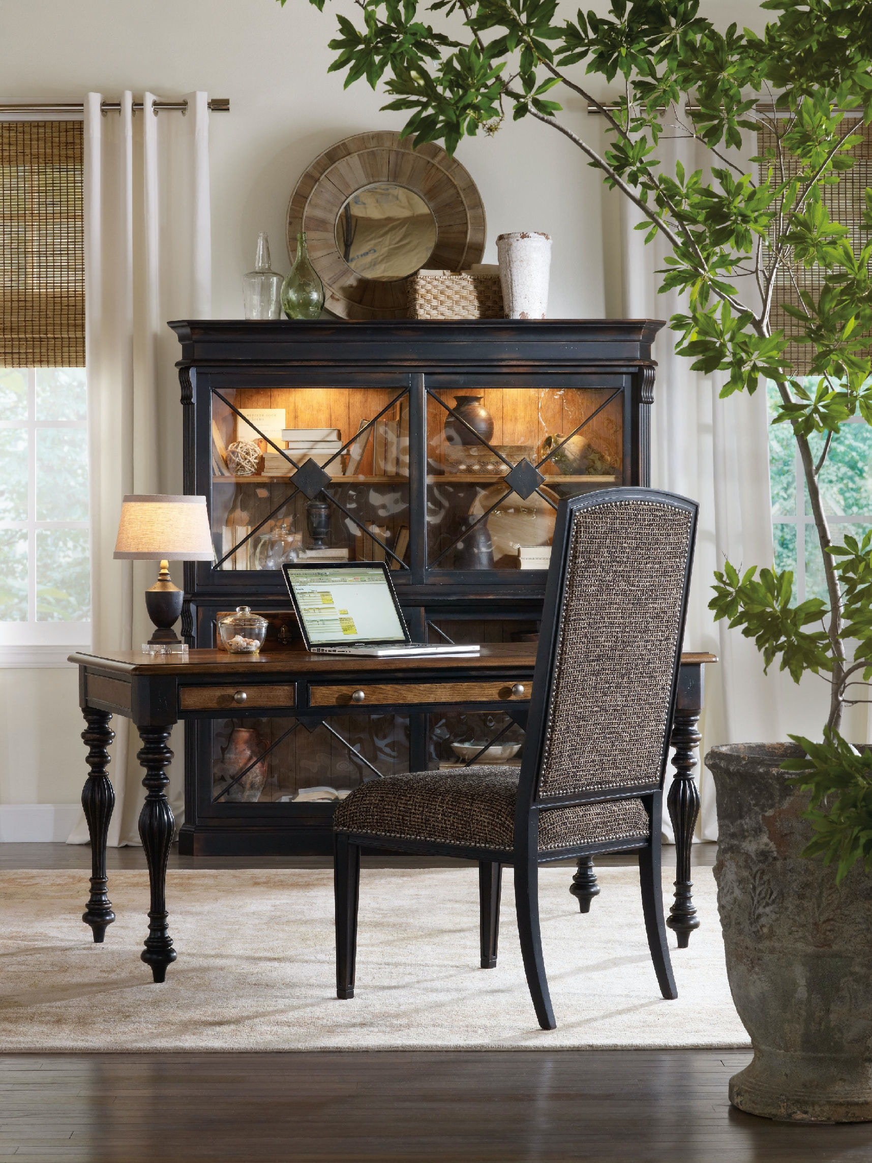 hooker furniture sanctuary mirage side chairebony - Side Chairs For Living Room