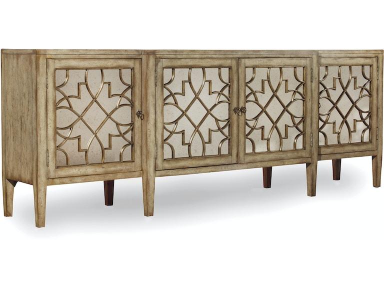 Furniture Sanctuary Four Door Mirrored Console Surf Visage 3013 85001
