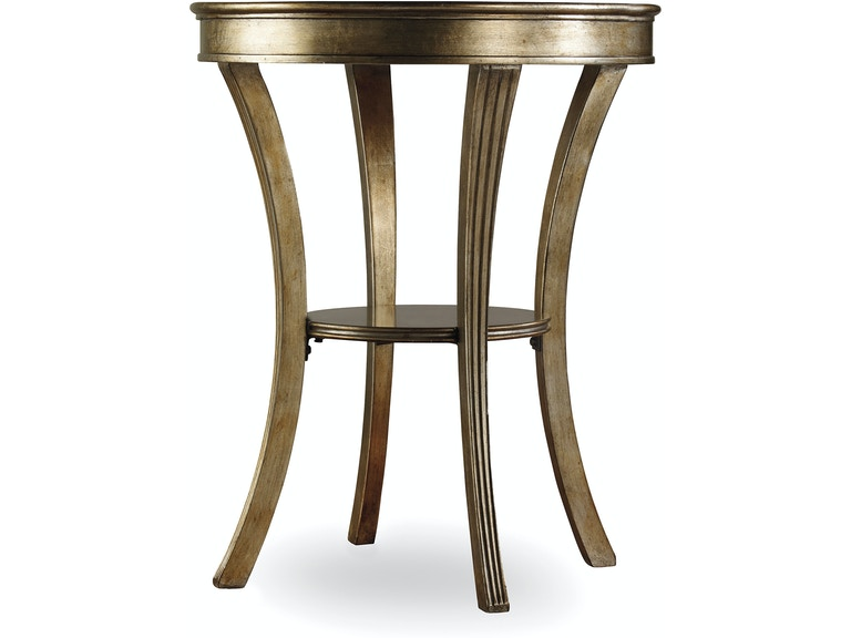 Hooker Furniture Living Room Sanctuary Round Mirrored Accent Table Visage 3014 50001