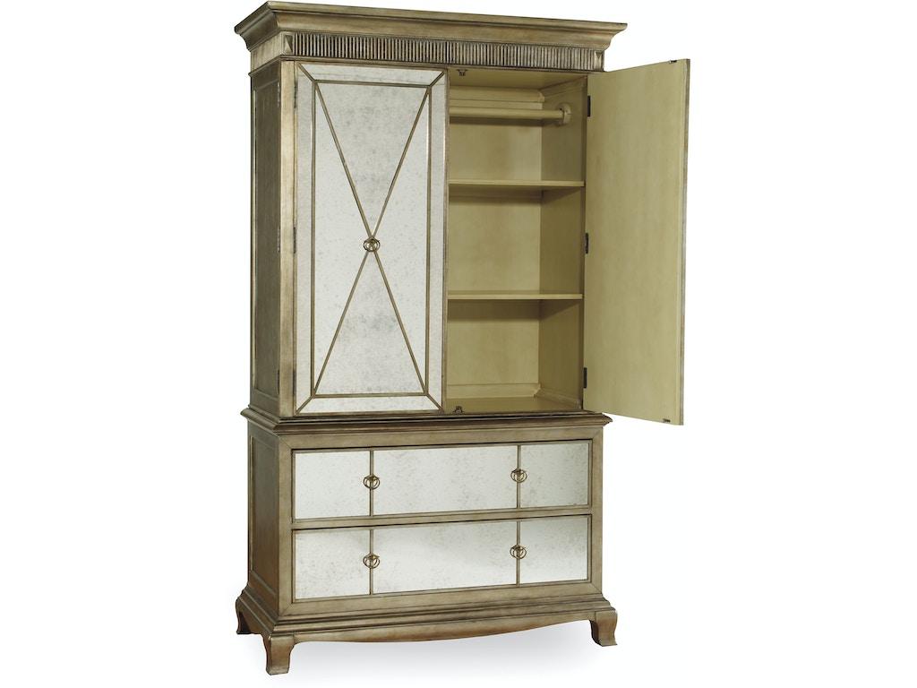 hooker furniture bedroom sanctuary armoire visage 3016. Black Bedroom Furniture Sets. Home Design Ideas