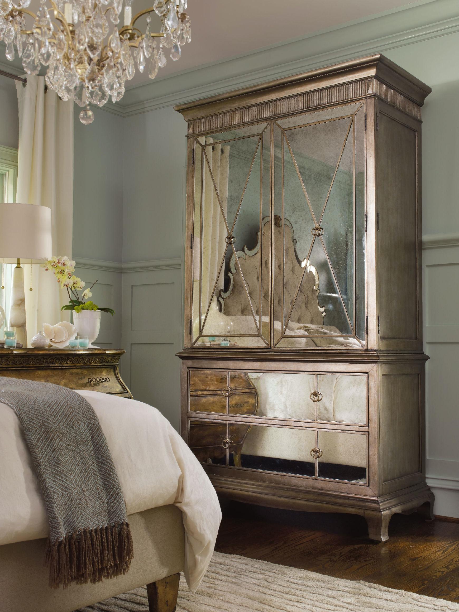 hooker furniture bedroom sanctuary armoire visage 3016 90013. Black Bedroom Furniture Sets. Home Design Ideas