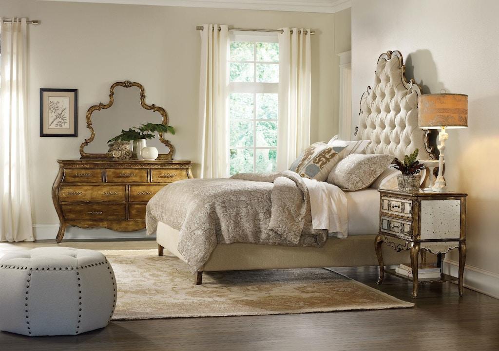bedroom l chatelet piece panel furniture queen htm wood light set hooker pkg upholstered in