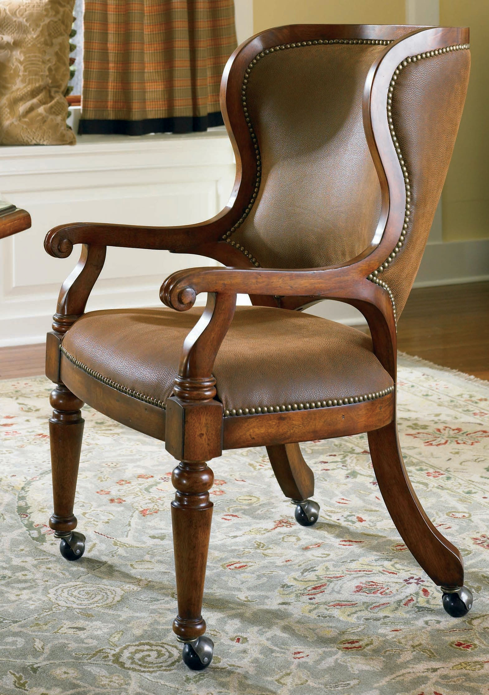 Hooker Furniture Waverly Place Tall Back Castered Game Chair 366 75 500