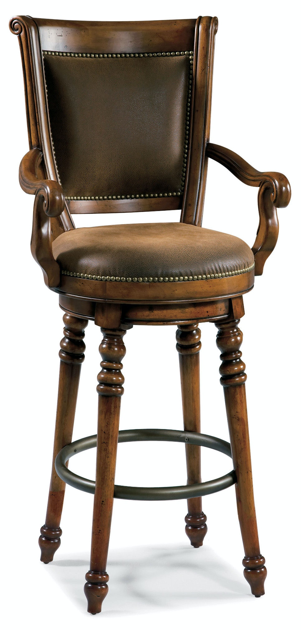 Hooker Furniture Bar and Game Room Waverly Place Memory Swivel Bar Stool