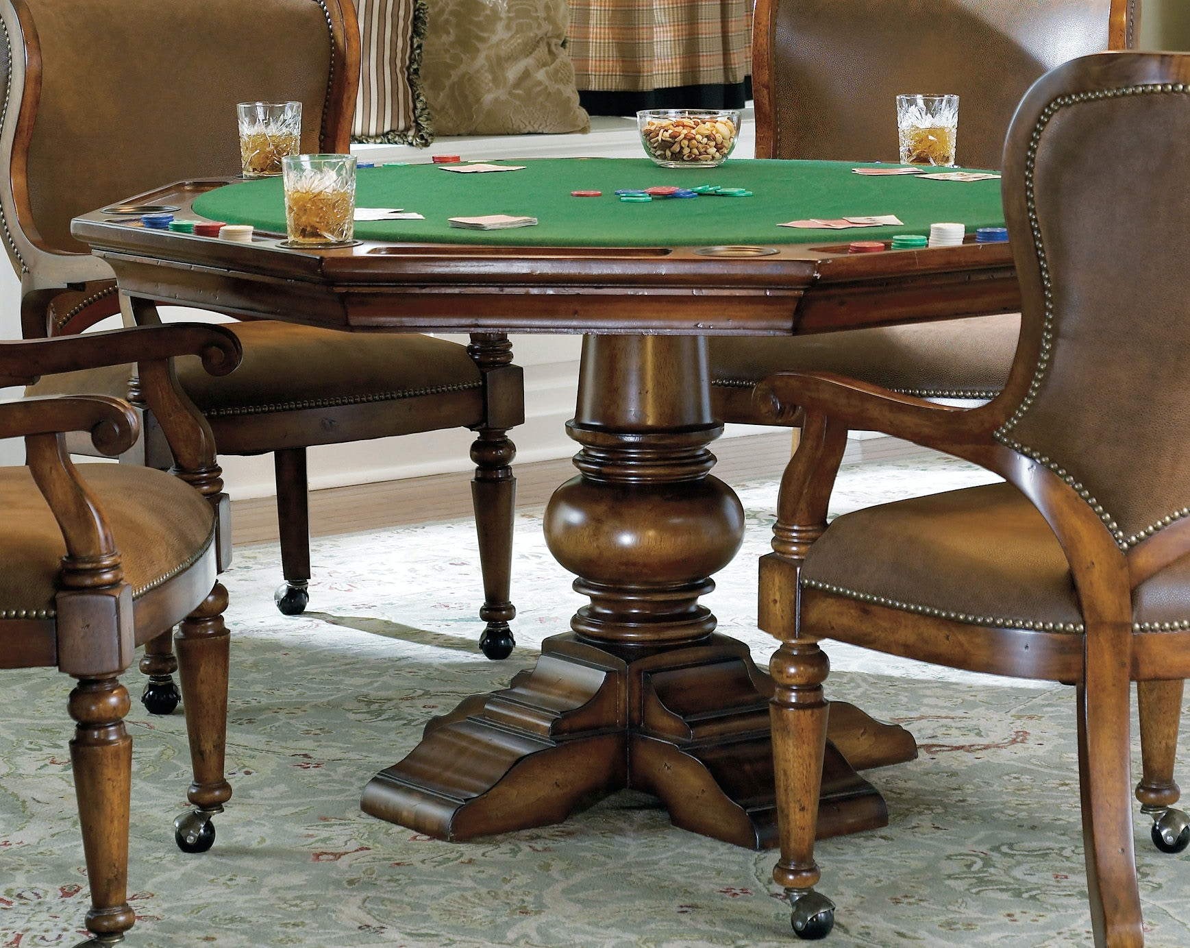 Hooker Furniture Waverly Place Reversible Top Poker Table 366 75 800