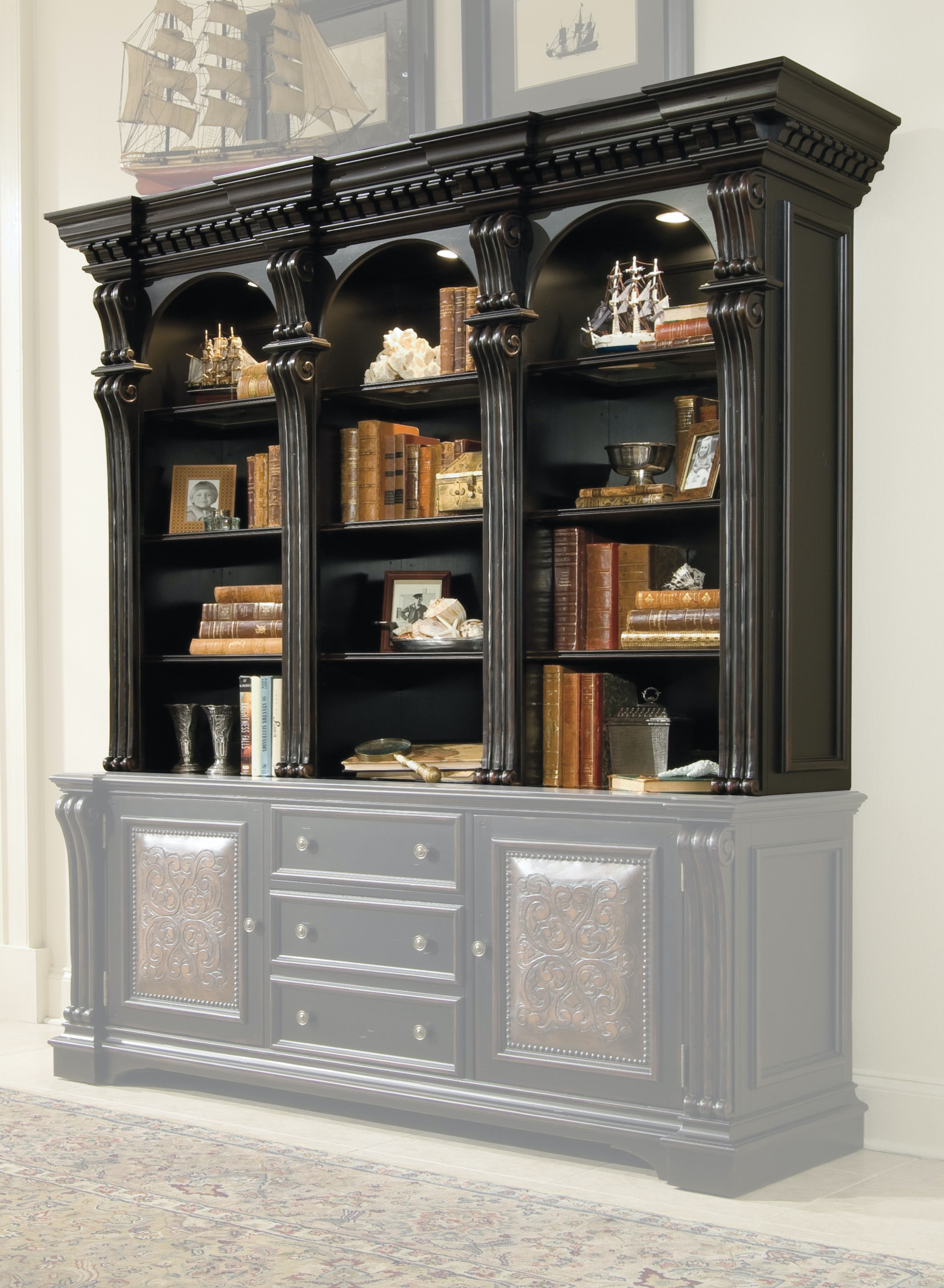 Hooker Furniture Home Office Telluride Bookcase Hutch 370