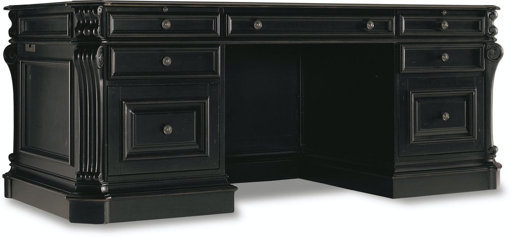 "Aspenhome Warm Cherry Executive Modular Home Office: Hooker Furniture Home Office Telluride 76"" Executive Desk"