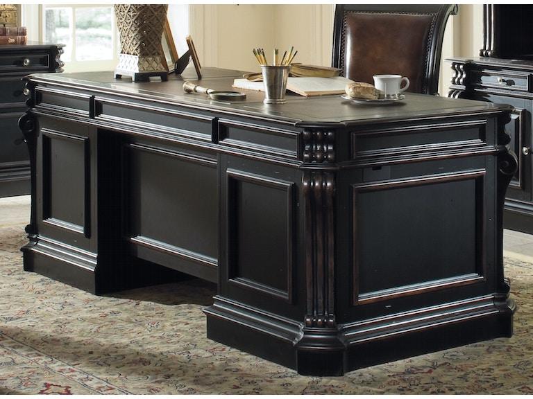 extraordinary executive office desk | Hooker Furniture Home Office Telluride 76'' Executive Desk ...