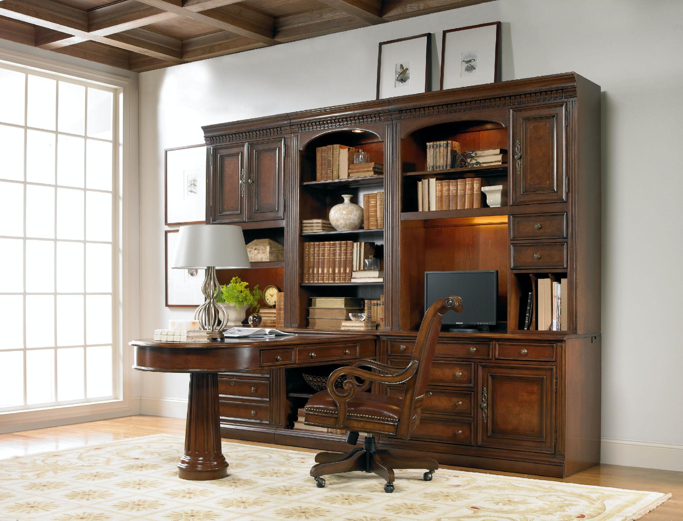 Etonnant Hooker Furniture European Renaissance II Peninsula Desk Complete 374 10 424