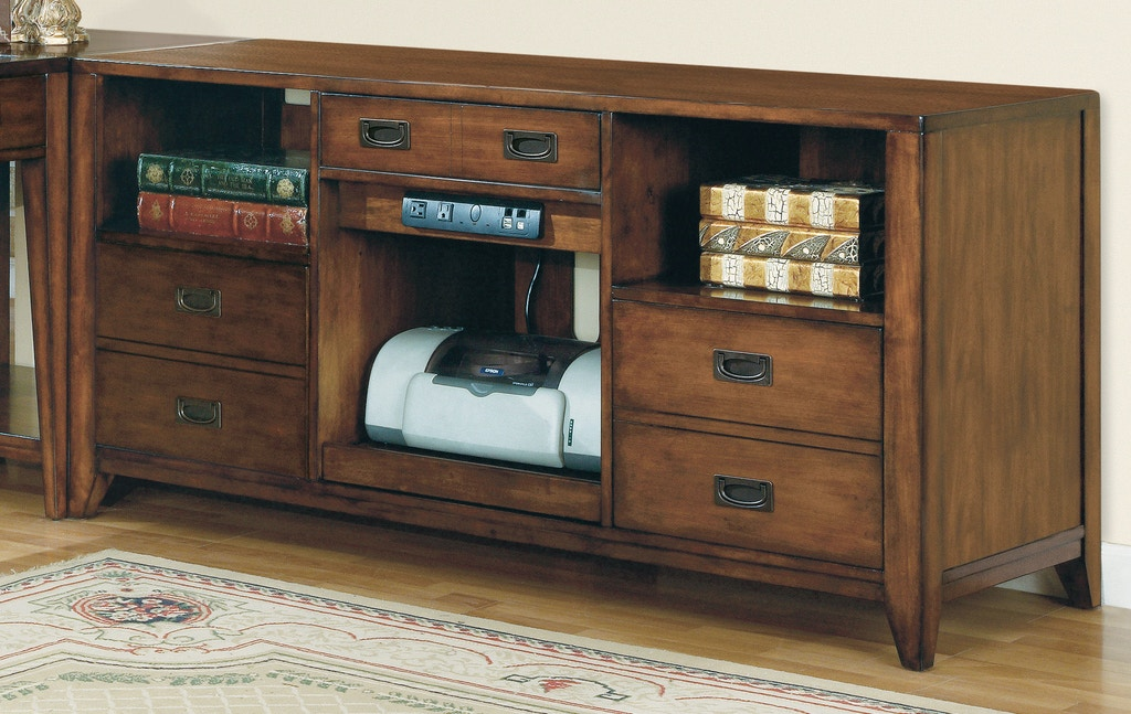 Home Office Furniture Michigan: Hooker Furniture Home Office Danforth Open Credenza 388-10