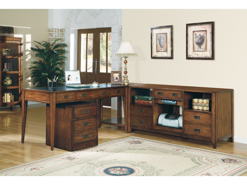 Hooker Furniture Home Office Danforth Open Credenza 388 10
