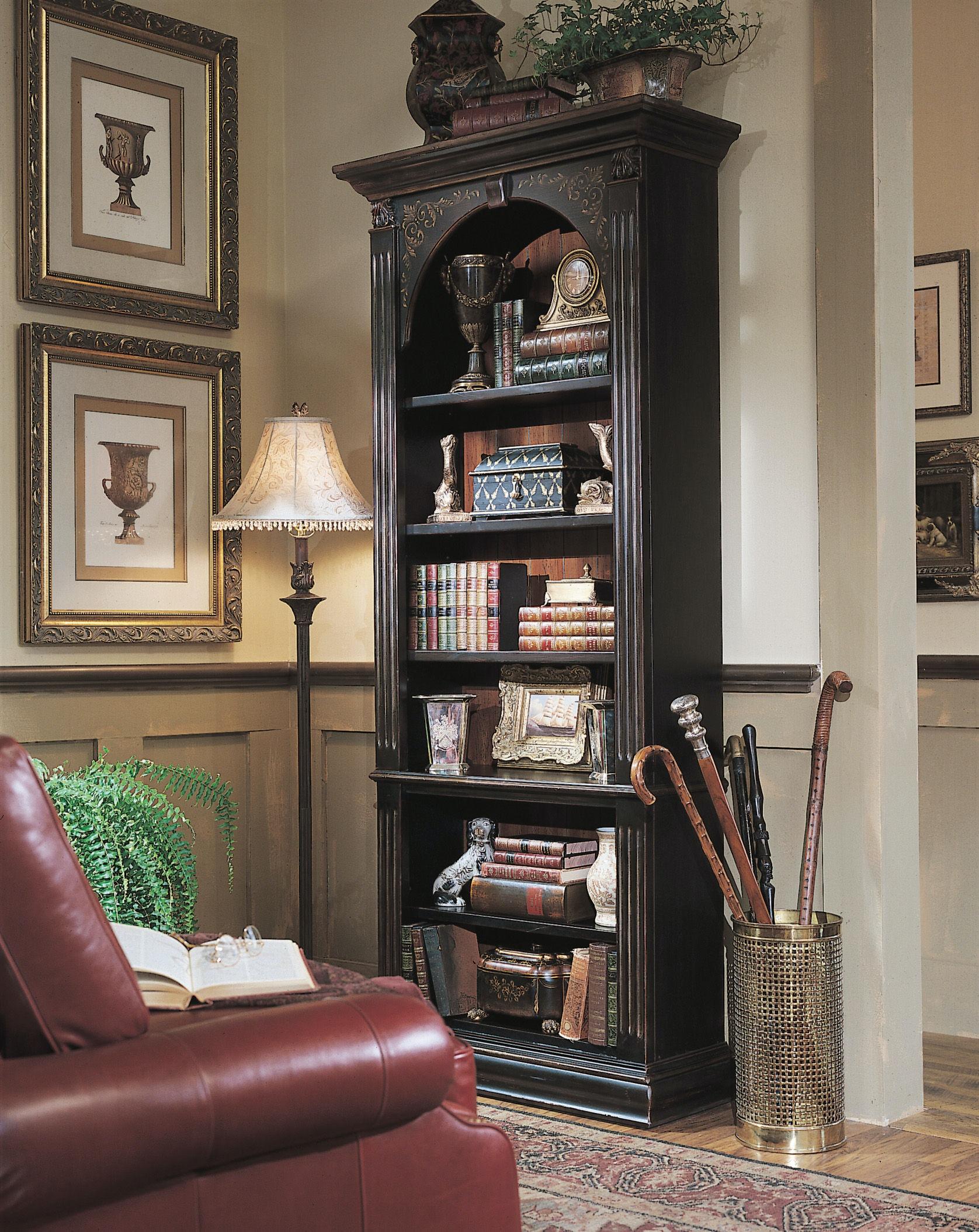 Hooker Furniture Black Bookcase 500 50 385