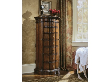 Hooker Furniture Shaped Jewelry Armoire-Cherry 500-50-540