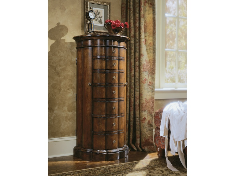 Furniture Accessories Shaped Jewelry Armoire Cherry