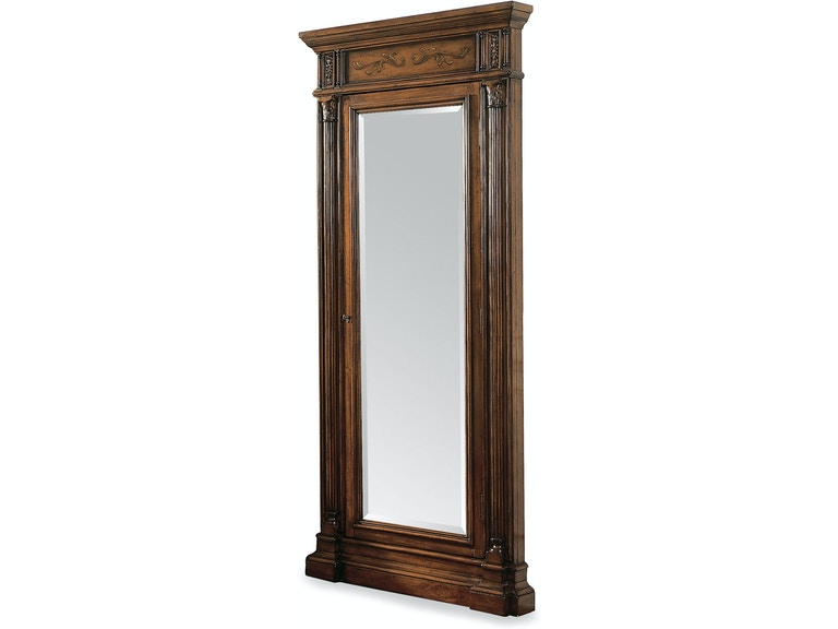 Hooker Furniture Accents Floor Mirror w/Jewelry Armoire Storage 500 ...