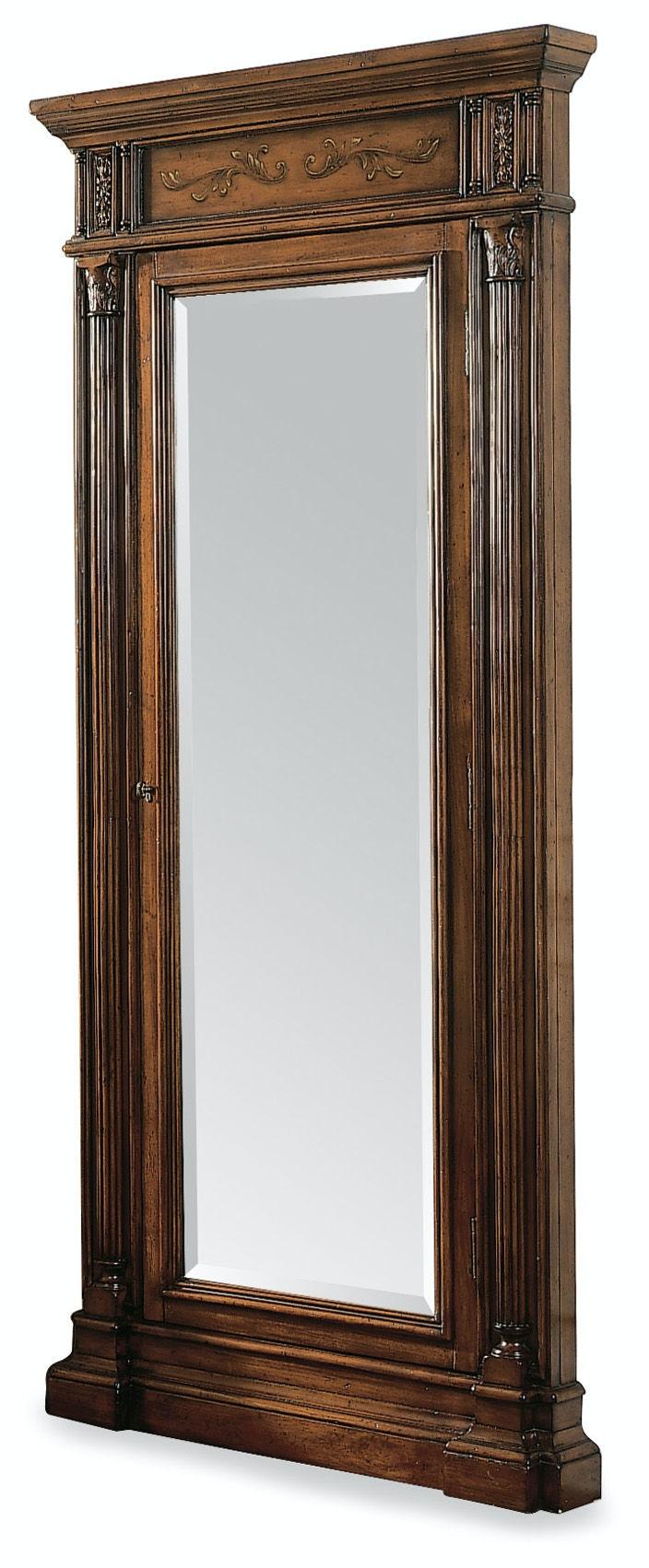 Hooker Furniture Floor Mirror W/Jewelry Armoire Storage 500 50 558