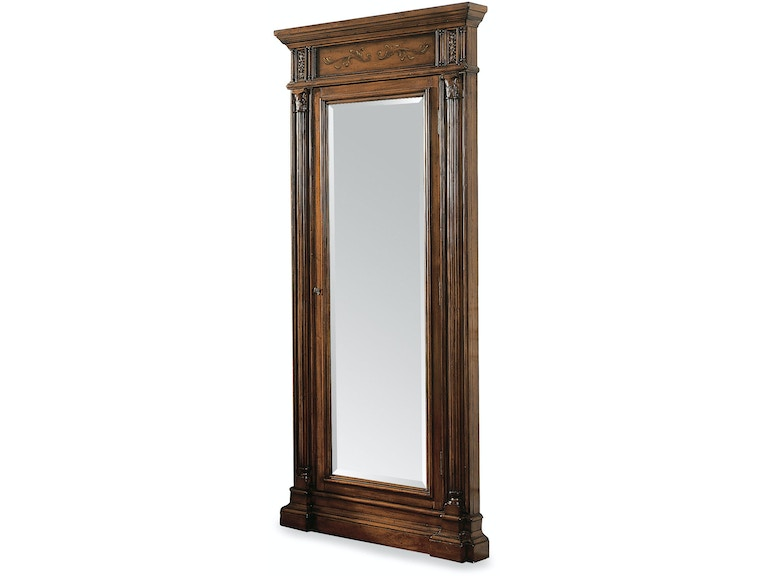 hooker furniture accents floor mirror w jewelry armoire storage 500 50 558. Black Bedroom Furniture Sets. Home Design Ideas