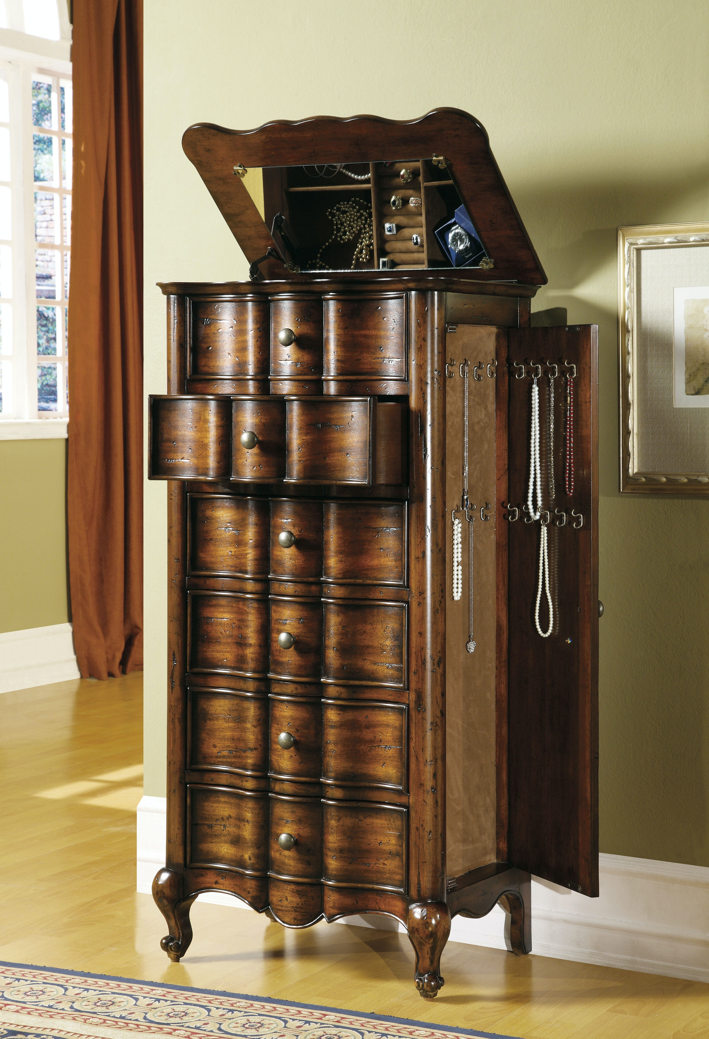 Hooker Furniture Accents French Jewelry Armoire 500-50-757