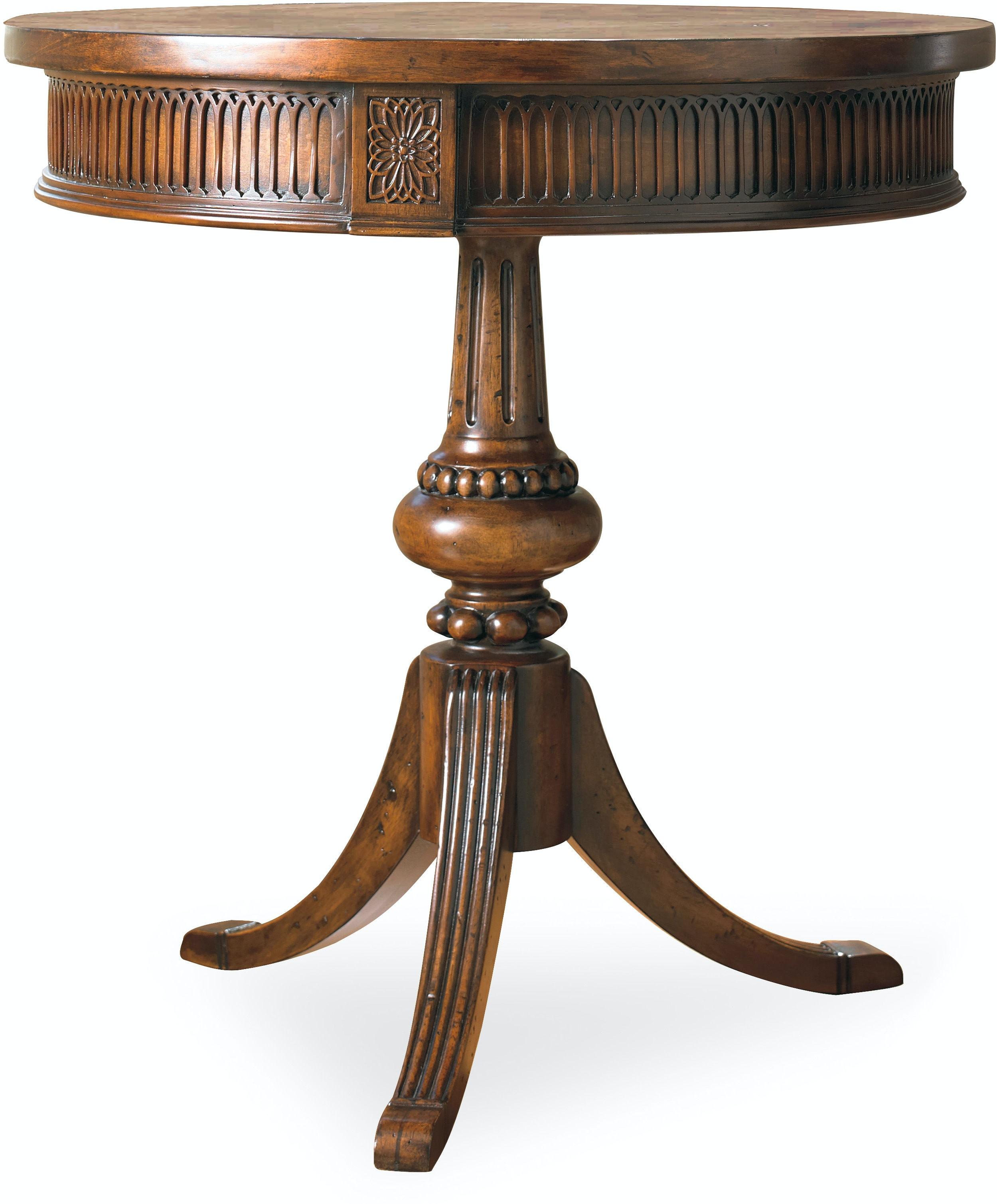 Hooker Furniture Living Room Round Pedestal Accent Table 500 50 828