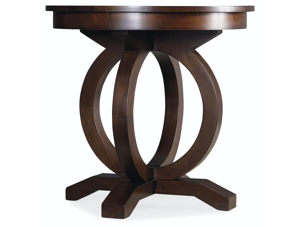 Hooker Furniture Living Room Kinsey Round End Table 5066 80116 Elite Interiors Myrtle Beach Sc
