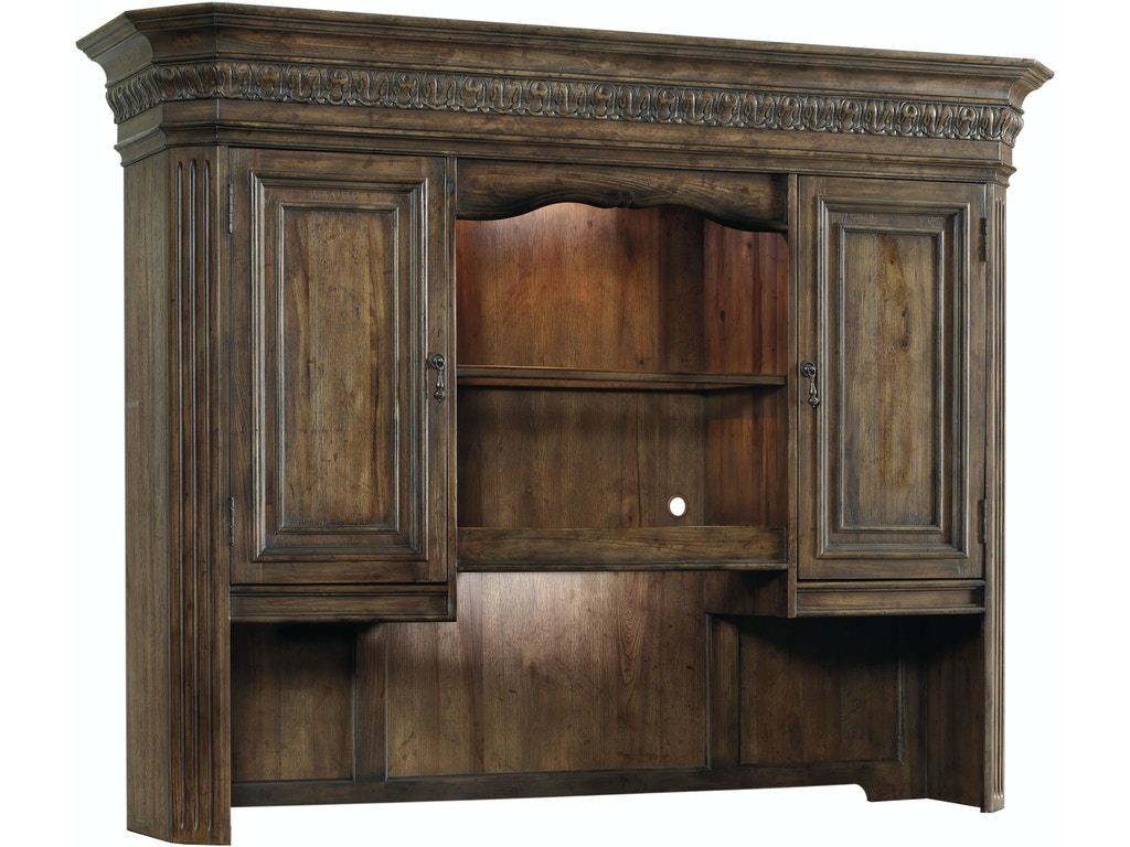 Hooker furniture home office rhapsody computer credenza hutch 5070 10467 hickory furniture - Hooker home office furniture ...