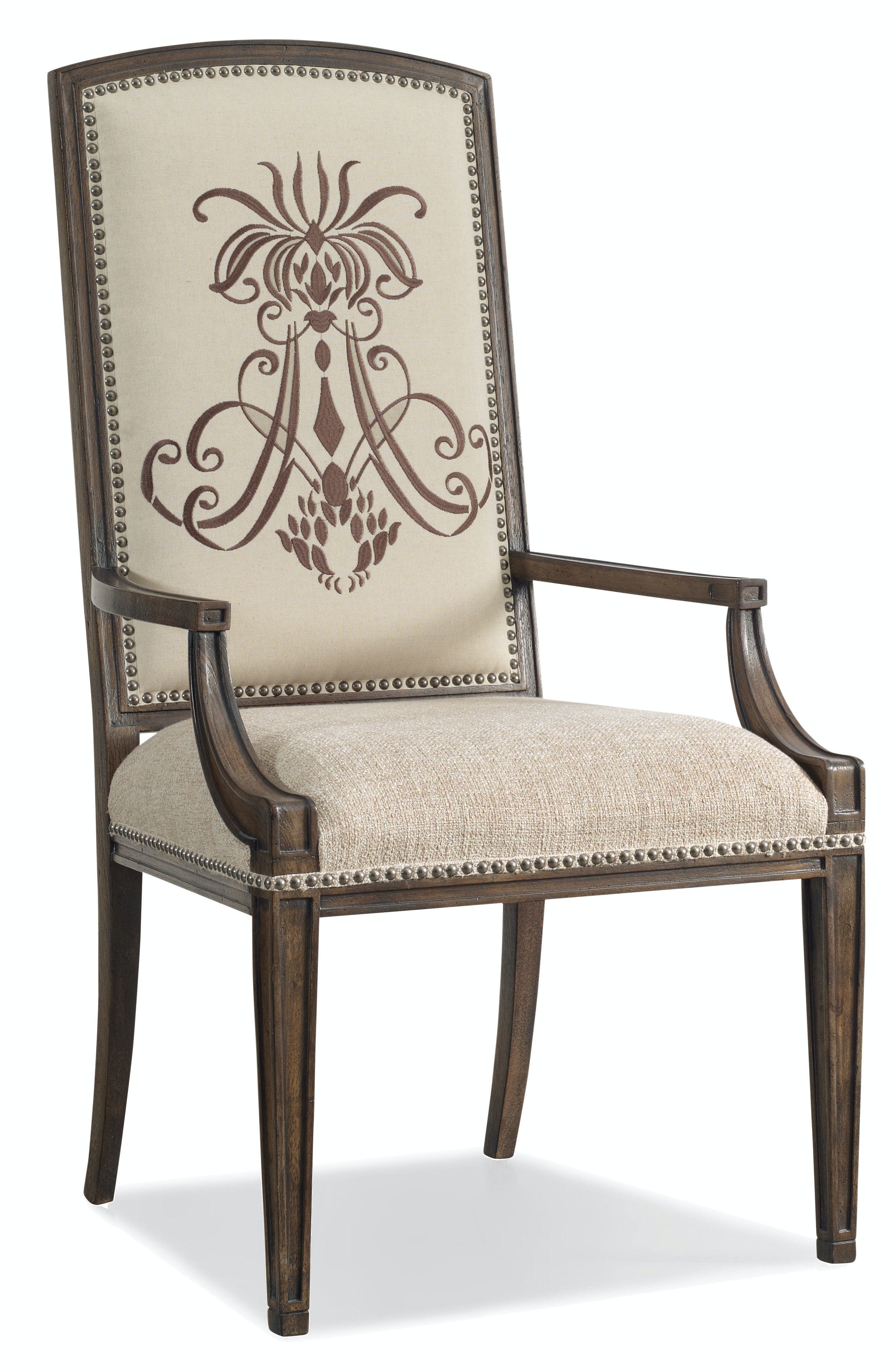 Hooker Furniture Dining Room Rhapsody Insignia Arm Chair 5070-75400