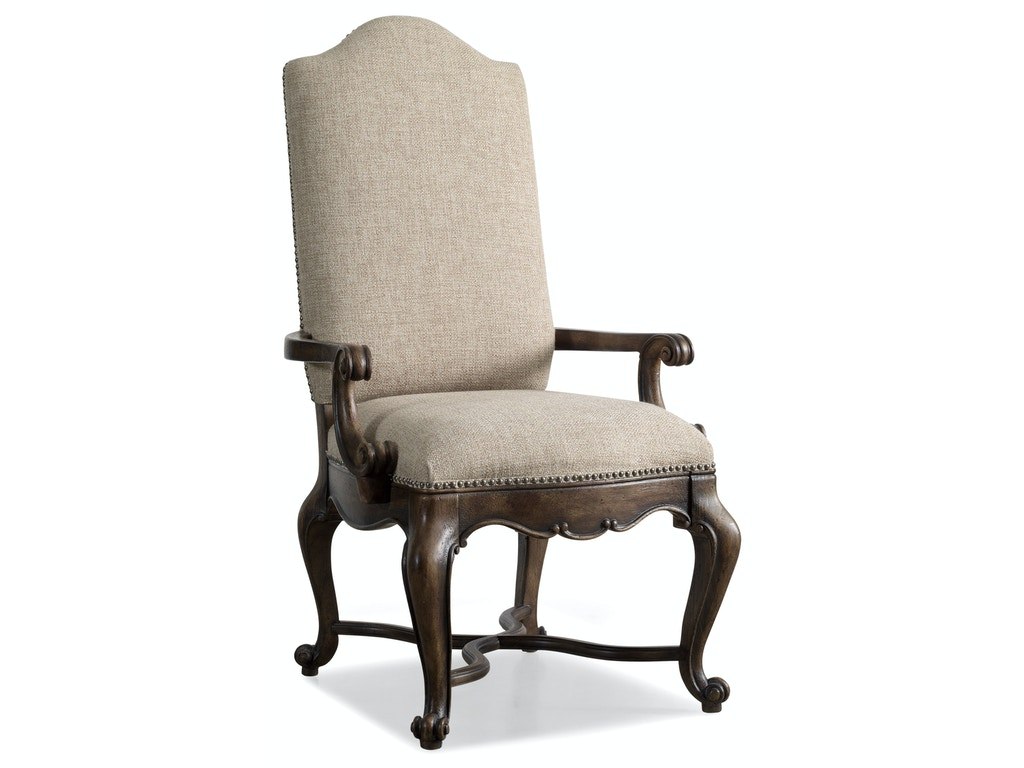 Hooker Furniture Dining Room Rhapsody Upholstered Arm Chair 5070 75500 Elite Interiors