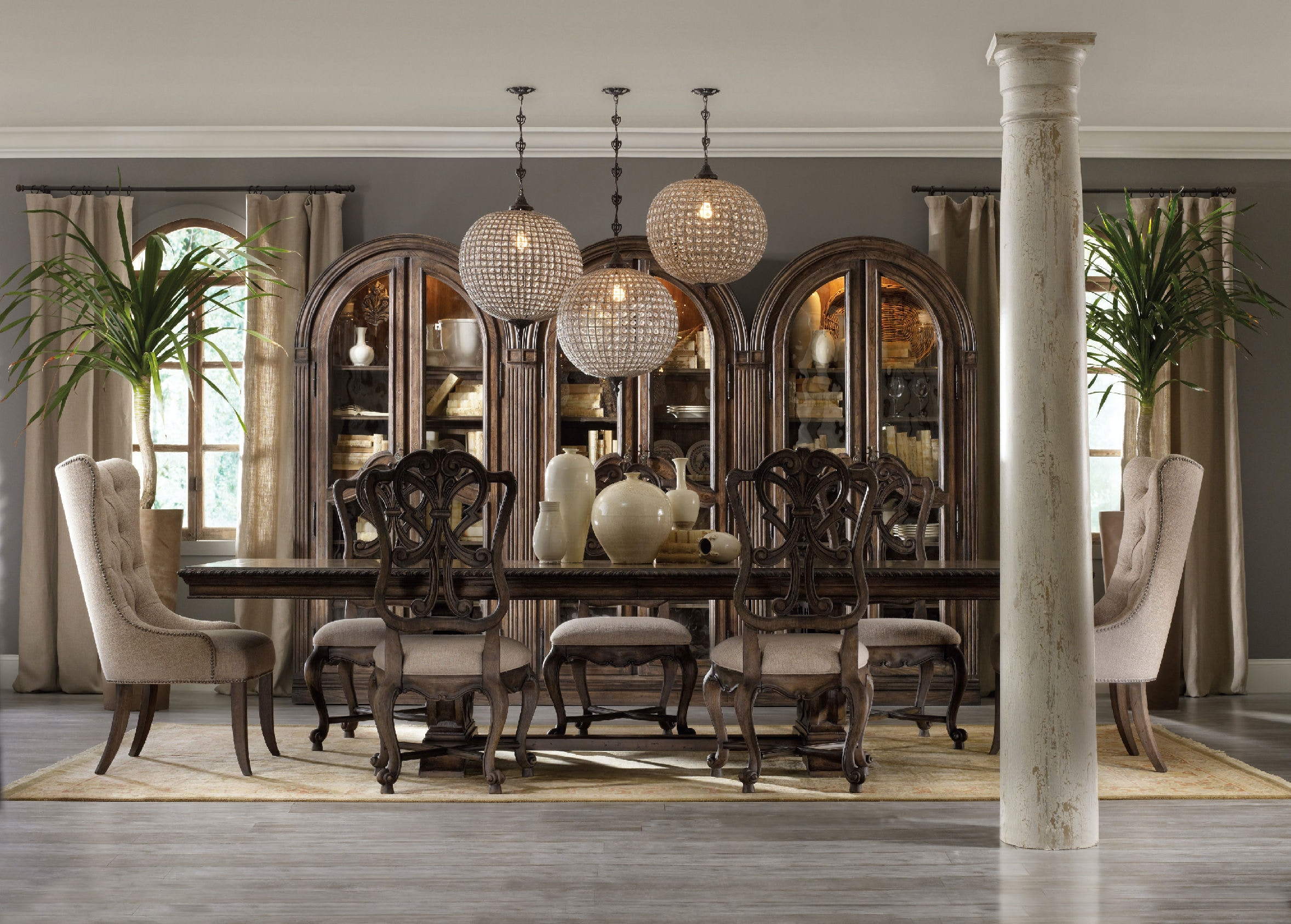 Hooker Furniture Dining Room Rhapsody Tufted Dining Chair 5070
