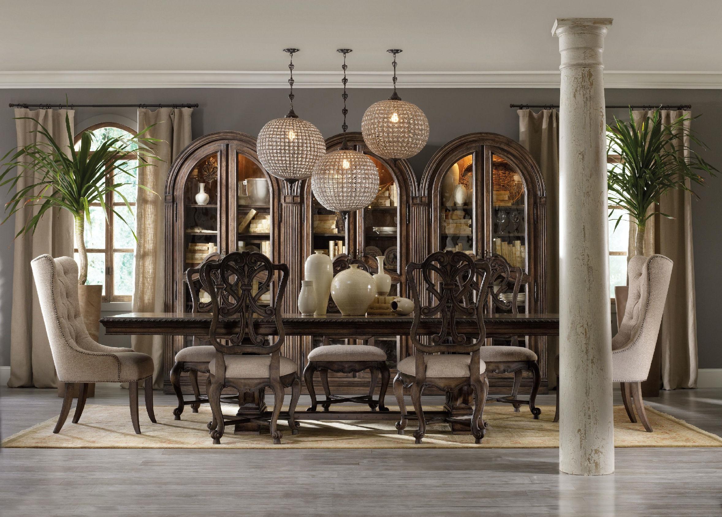 Hooker Furniture Dining Room Rhapsody Wood Back Side Chair 5070-75411