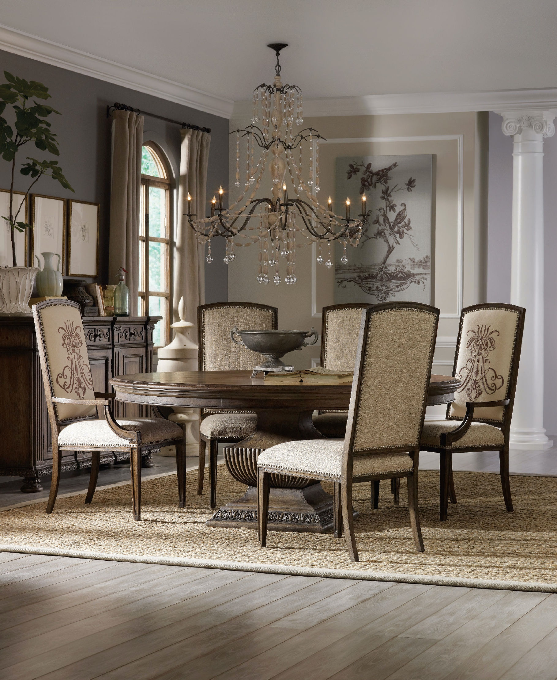 """hooker furniture rhapsody 72"""" round dining table 5070-75213"""