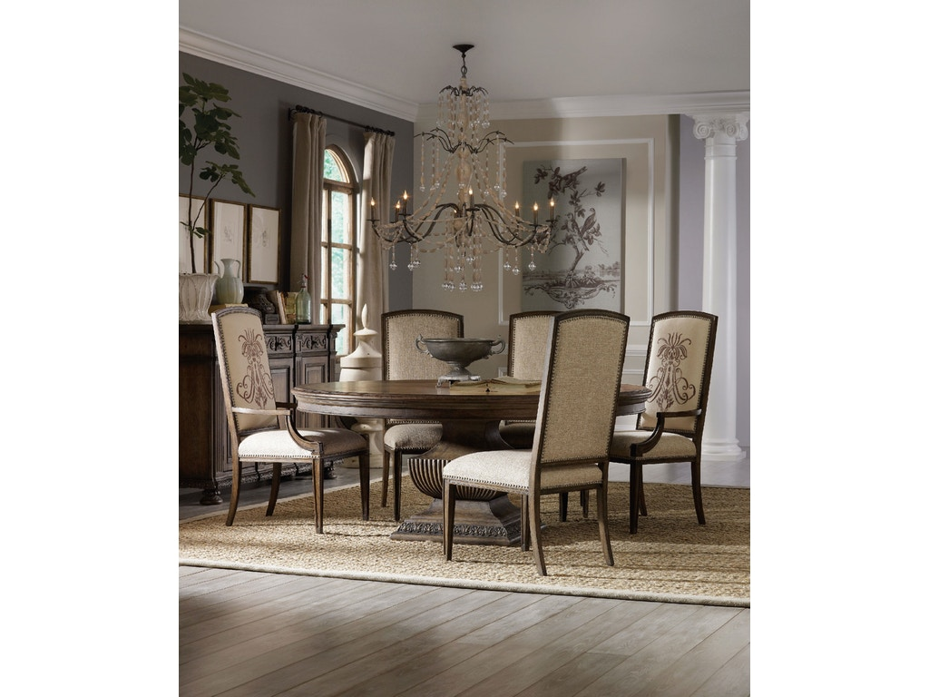 Rhapsody 72 round dining table hs507075213 for Walter e smithe dining room furniture