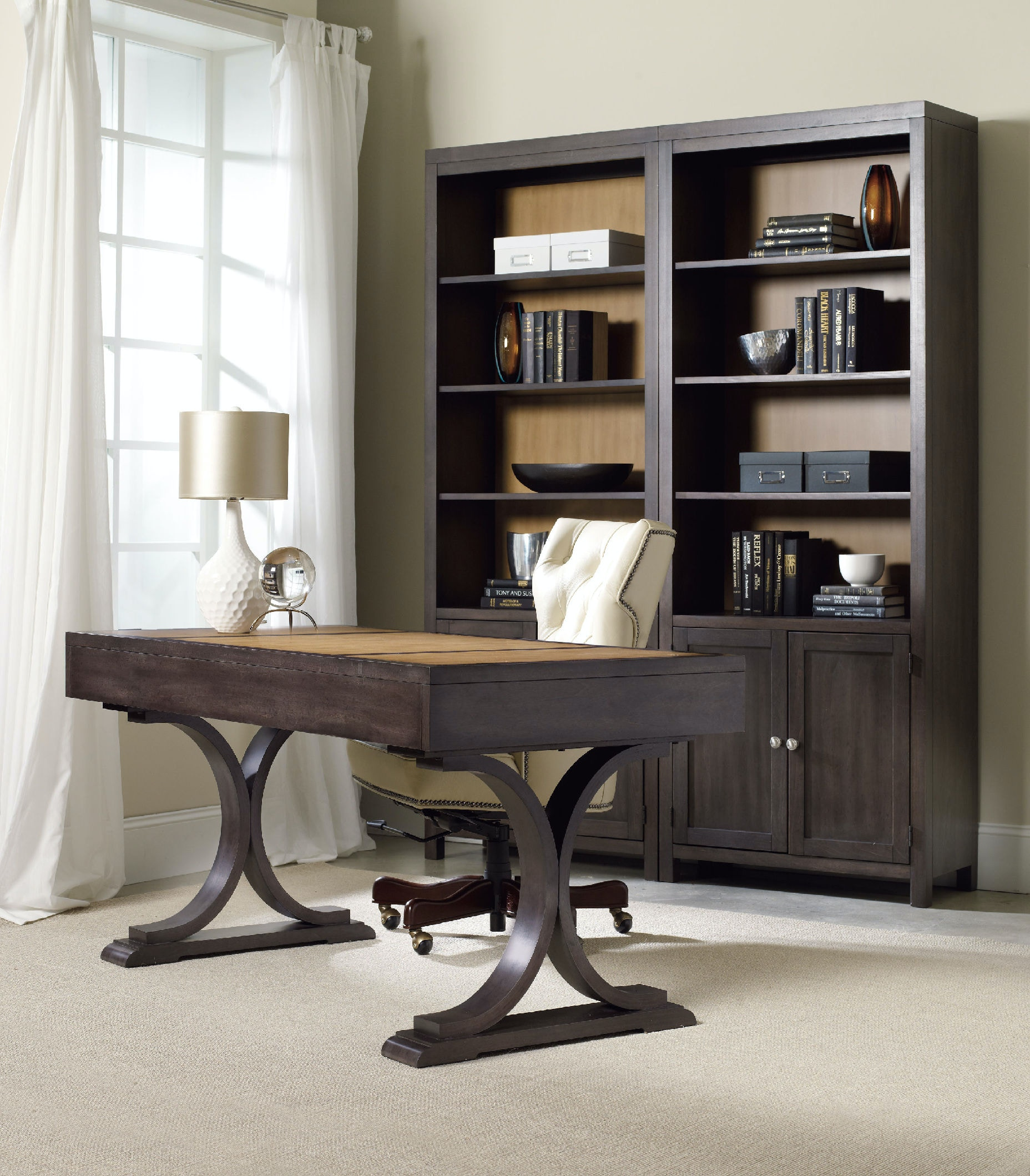 Hooker Furniture Home Office South Park Bunching Bookcase ...
