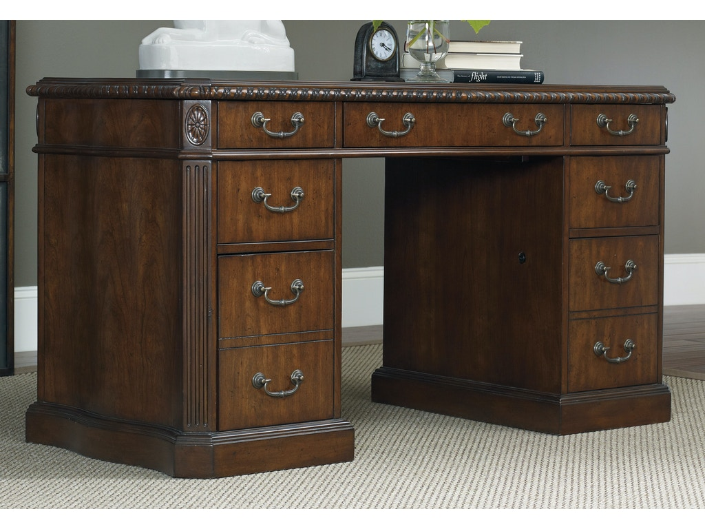 Hooker furniture home office 54 knee hole desk 5082 10301 patrick furniture cape girardeau mo - Hooker home office furniture ...