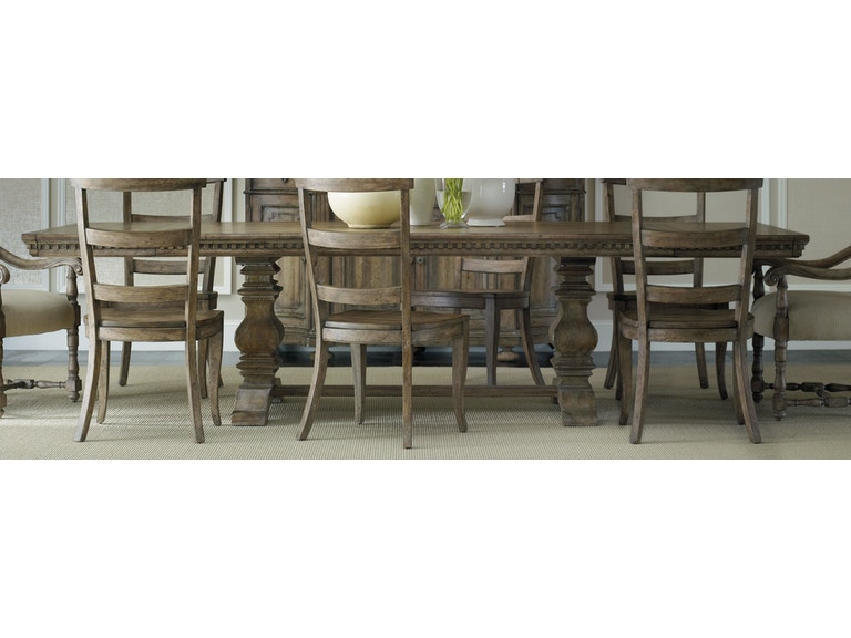 Hooker Furniture Dining Room Sorella Rectangle Dining Table w/2-18 ...