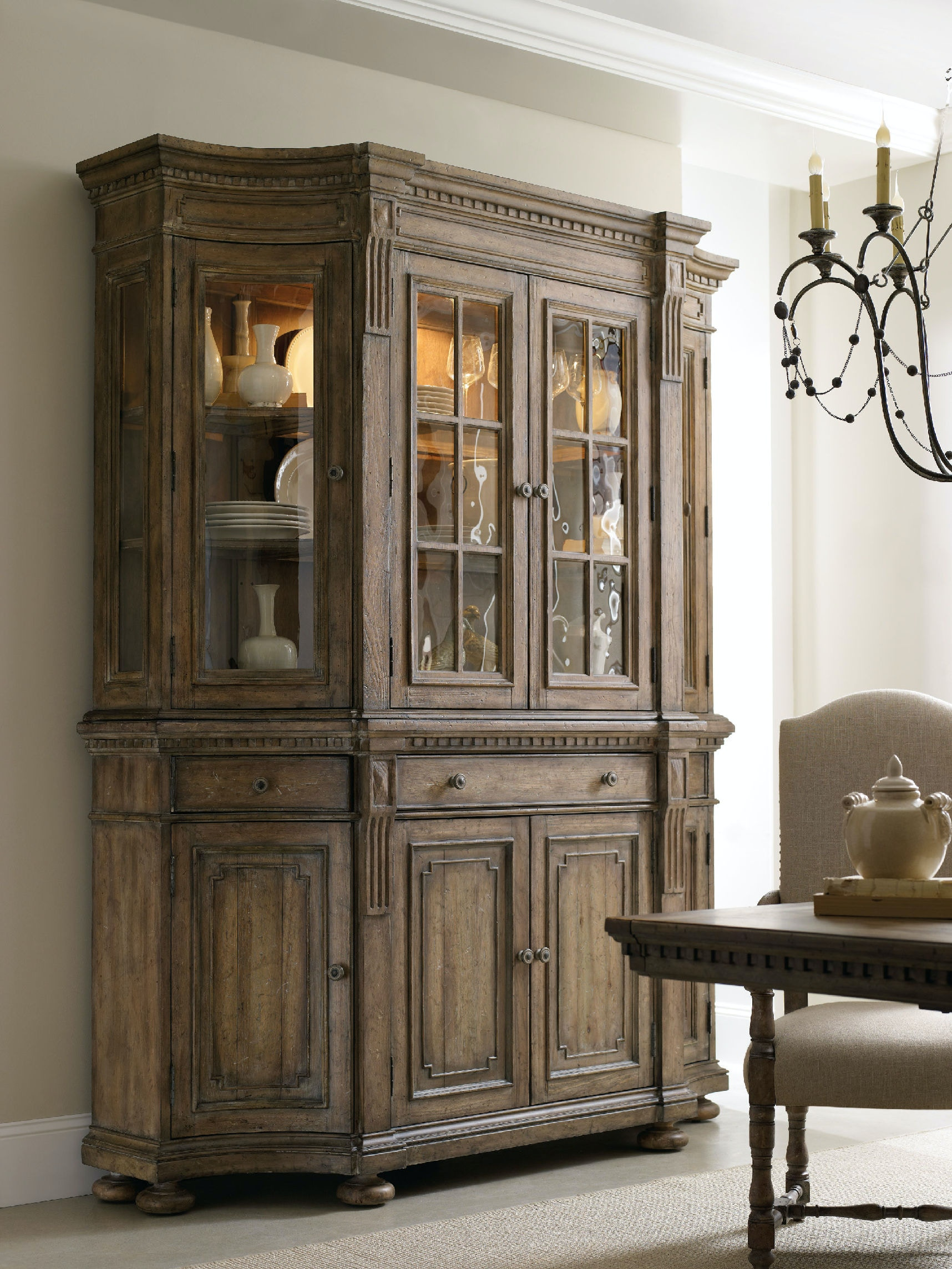 Living Room China Cabinet Hooker Furniture Living Room Sorella Shaped Credenza 5107 85001